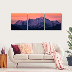Mont Blanc Switzerland Multi Panel Canvas Wall Art - Nature