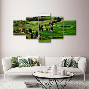 Monteciello Fields Multi Panel Canvas Wall Art - Nature