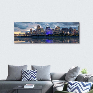 Montreal Business District Multi Panel Canvas Wall Art - City