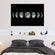 Moon Cycle Multi Panel Canvas Wall Art