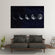 Moon Phases Multi Panel Canvas Wall Art