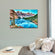 Moraine Lake In Banff National Park Multi Panel Canvas Wall Art