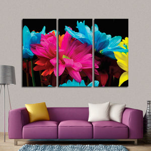 Morning Flowers Multi Panel Canvas Wall Art - Flower