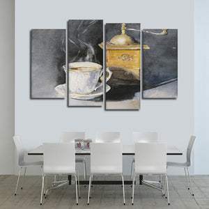 Coffee Mill Multi Panel Canvas Wall Art - Coffee