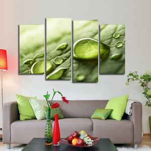 Morning Dew Multi Panel Canvas Wall Art - Nature
