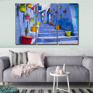Moroccan Street Multi Panel Canvas Wall Art - Village