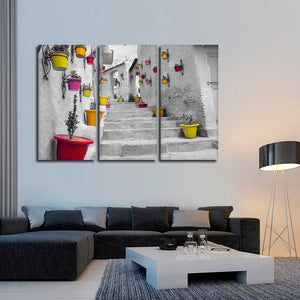 Moroccan Street Pop Multi Panel Canvas Wall Art - Village