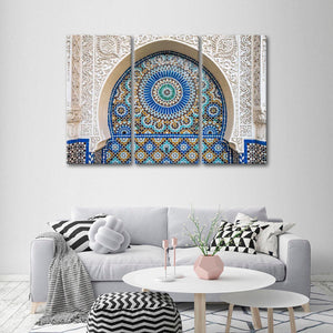 Moroccan Tile Multi Panel Canvas Wall Art - Africa