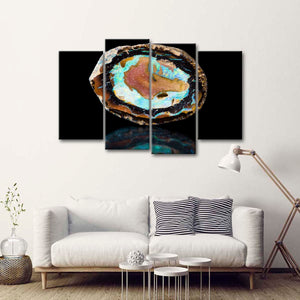 Mosaic Stone Agate Multi Panel Canvas Wall Art - Macro