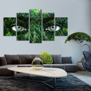 Mother Earth Multi Panel Canvas Wall Art - Portrait
