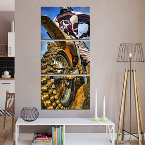 Blood Sweat And Gears Multi Panel Canvas Wall Art - Motocross