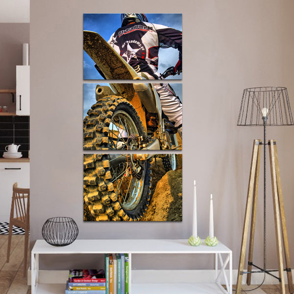 Blood Sweat And Gears Multi Panel Canvas Wall Art