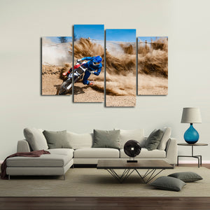 Motocross Debris Multi Panel Canvas Wall Art - Motocross