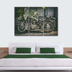 Motorcycle Five Stars Multi Panel Canvas Wall Art - Bike