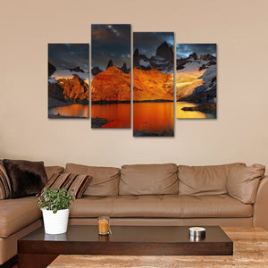 Mount Fitz Roy Multi Panel Canvas Wall Art - Nature