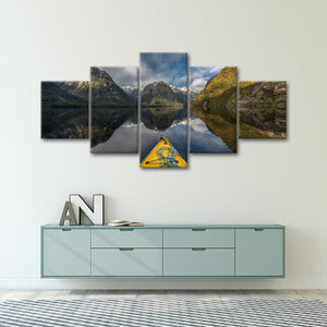 Mountain Kayak Multi Panel Canvas Wall Art - Kayak