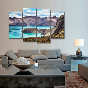 Mountain Landscape Multi Panel Canvas Wall Art - Nature