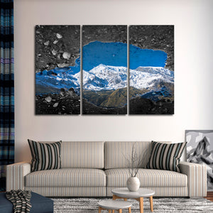 Mountain Reflection Pop Multi Panel Canvas Wall Art - Nature