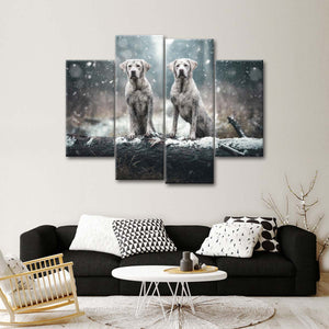 Muddy Dogs Multi Panel Canvas Wall Art - Dog