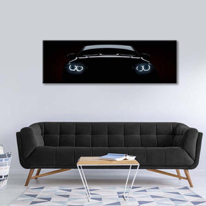 Muscle Car Silhouette Multi Panel Canvas Wall Art - Car