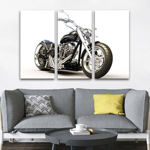 My World Multi Panel Canvas Wall Art - Bike