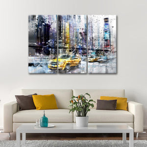 NYC Collage Multi Panel Canvas Wall Art - City
