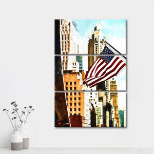 NYC Pride Multi Panel Canvas Wall Art - City