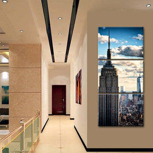 NYC Skyscraper Multi Panel Canvas Wall Art - City
