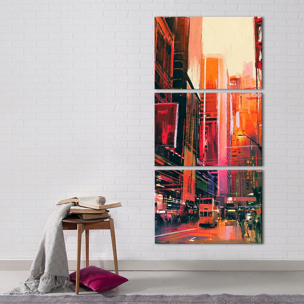 NYC Streets Multi Panel Canvas Wall Art