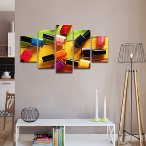 Nail Polish Multi Panel Canvas Wall Art - Nails