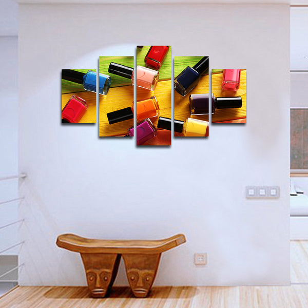 Nail Polish Multi Panel Canvas Wall Art