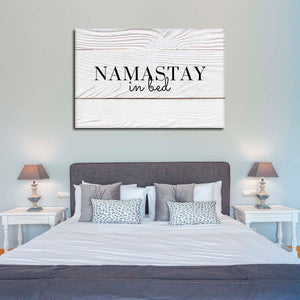 Namastay In Bed Canvas Wall Art - Inspiration