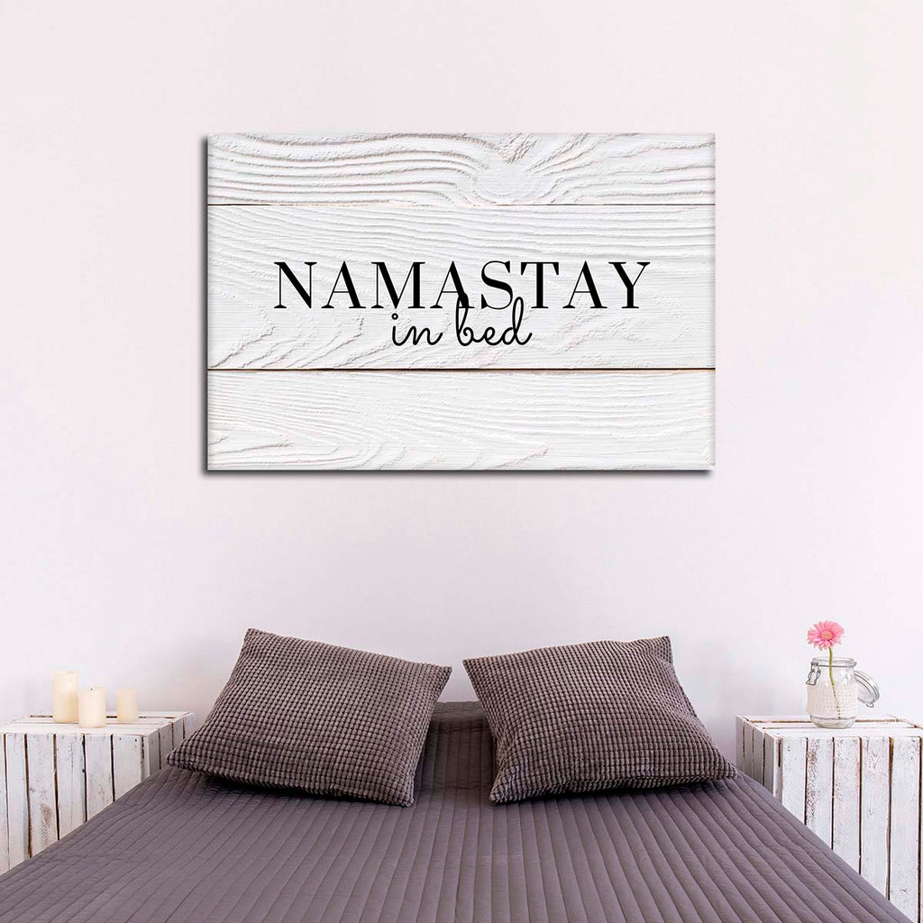 Namastay In Bed Canvas Wall Art