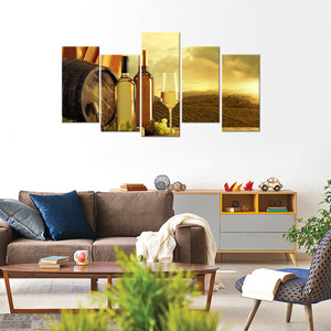 Napa Valley Experience Multi Panel Canvas Wall Art - Winery