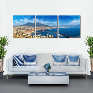Naples Multi Panel Canvas Wall Art - City