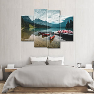 Native Kayak Multi Panel Canvas Wall Art - Kayak