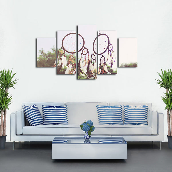 Native American Dreamcatcher Multi Panel Canvas Wall Art