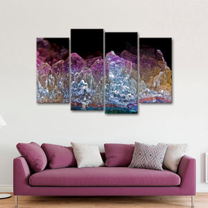 Natural Crystals Multi Panel Canvas Wall Art - Macro