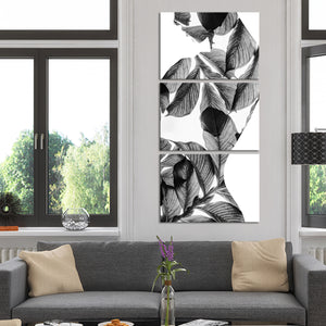 Nature Girl Multi Panel Canvas Wall Art - Botanical