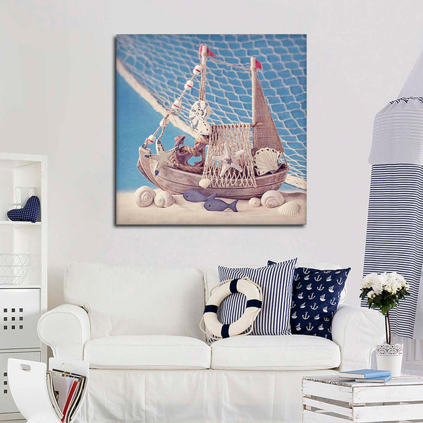 All At Sea Canvas Wall Art