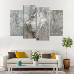 Conch Shell Multi Panel Canvas Wall Art - Nautical