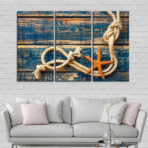 Marine Rope Multi Panel Canvas Wall Art - Nautical
