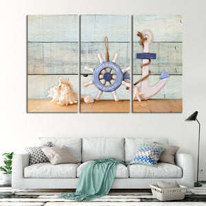 Welcome on Board Multi Panel Canvas Wall Art - Nautical