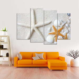 Swept Ashore Multi Panel Canvas Wall Art - Nautical