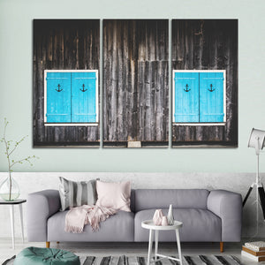 Nautical Doors Multi Panel Canvas Wall Art - Nautical