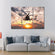 Navy Helicopter Multi Panel Canvas Wall Art