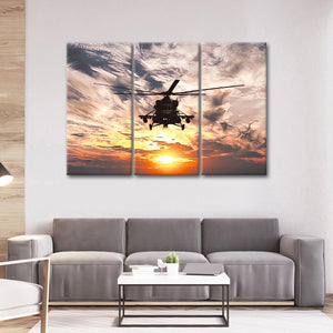 Navy Helicopter Multi Panel Canvas Wall Art - Army