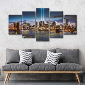 Never Forget Multi Panel Canvas Wall Art - City