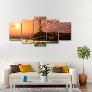 New Day Multi Panel Canvas Wall Art - Lighthouse
