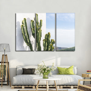 New Mexico Cacti Multi Panel Canvas Wall Art - Botanical